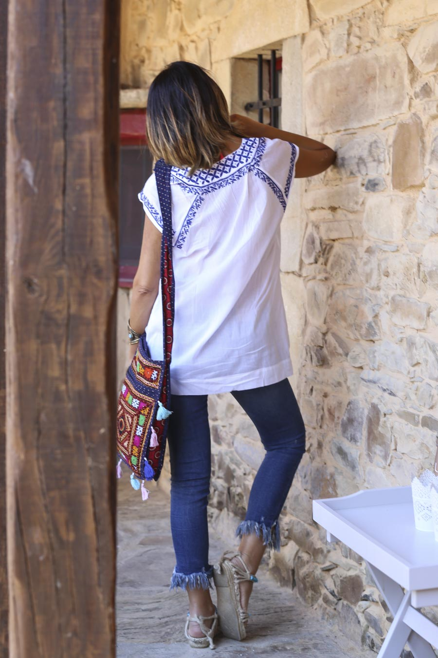 Embroidered boho shirt